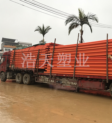 pvc-c电力管送货现场